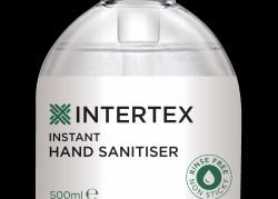 Intertex Instant Hand Sanitiser 70% Alcohol 500ml  (Sold by Case  24 x 500ml) £90 per case